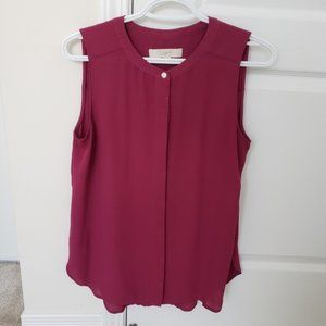 LOFT Sleeveless Blouse Small
